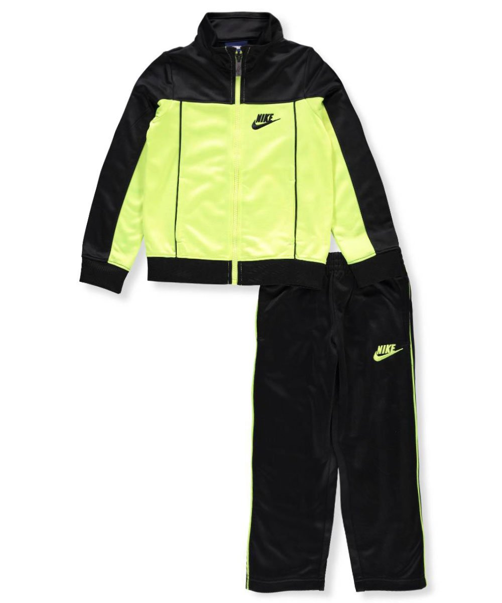 NIKE Baby Infant Sweatsuit/Tracksuit (2T, Yellow Navy)