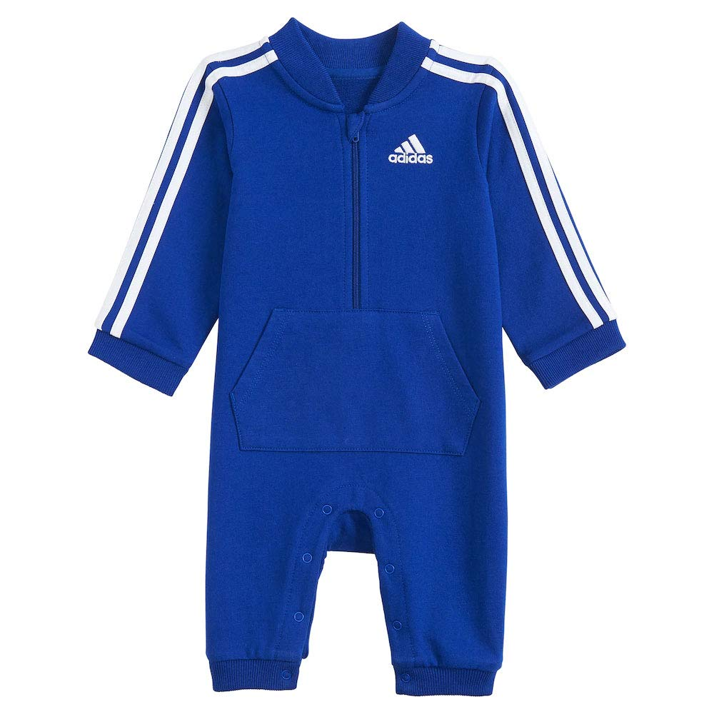 adidas Baby Boys' and Baby Girls Long Sleeve Hooded Coverall (Royal Blue, 12 Months) by adidas