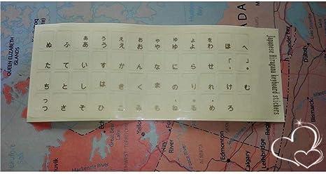 Etiquetas engomadas japonesas del teclado Etiquetas engomadas ...