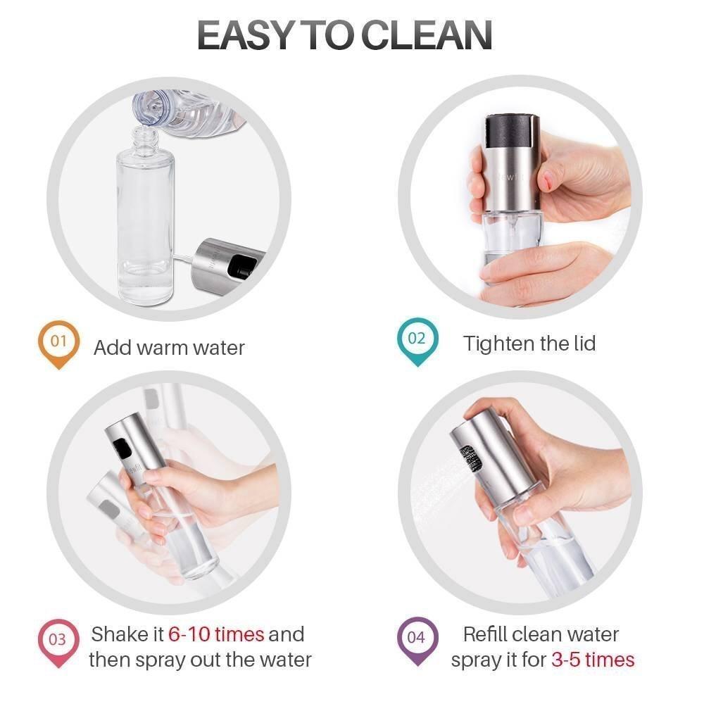 Aceite Vinagre Aceite de Oliva Spray Pump GLA salpicaduras dispositivo Botella Vinagrera pulverizador herramienta de cocina para cocinar, BBQ, ...