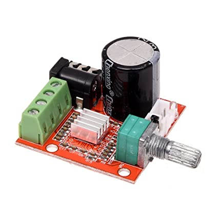 SODIAL(R) Mini amplificador estereo de audio Hi-Fi 2x10W PAM8610 Modulo de