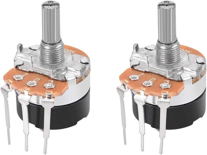 6Pin WH148  B500K Ohm Linear Dual Taper Rotary Potentiometer   5Pcs