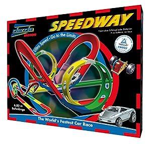 Darda 50105 - Rennbahn Speedway, inklusive silbernem Porsche Boxster, 680 cm...