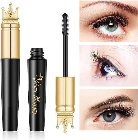 4D Fiber Mascara Eyelash Extension Waterproof Black Más largas pestañas más Gruesas Maquillaje de Ojos Natural de Larga duración No florece: Amazon.es: Hogar