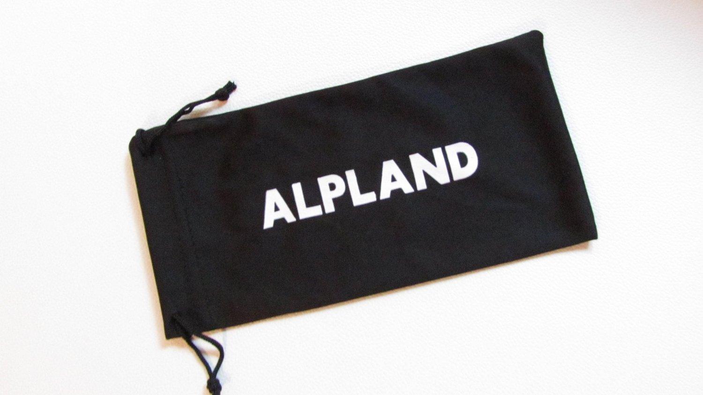 Alpland Lunettes de montagne Glacier Lunettes pour sports de ski Kitesurf de cyclisme avec bande et sangle interchangeable–Verre fumée argentée Miroir inkl. Softbag jEf2c