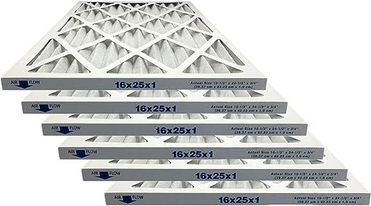 12x24x1 Merv 13 Allergy Elite Pleated AC Furnace Filter Case of 6