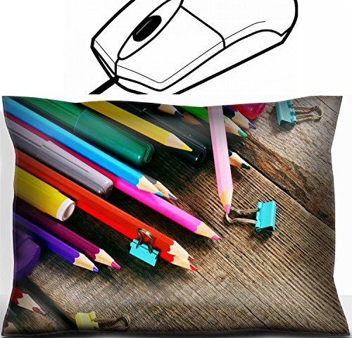 MSD Mouse Wrist Rest Office Decor Wrist Supporter Pillow design: 31039766 School tools On wooden background by MSD