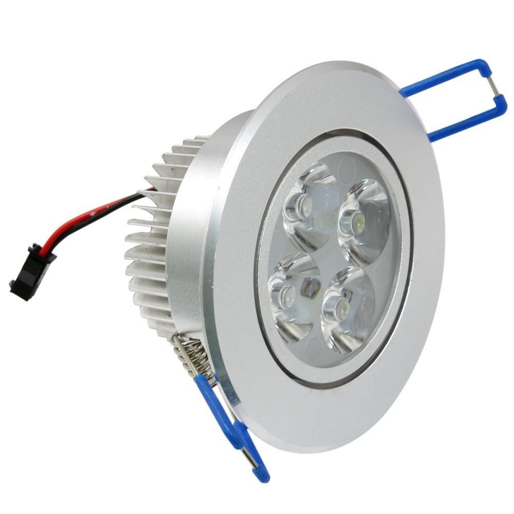 Paquete de 10,Pocketman 220V 4W L/ámpara de techo LED Downlight,Blanco fr/ío L/ámpara Iluminaci/ón empotrada,Controlador de LED incluido