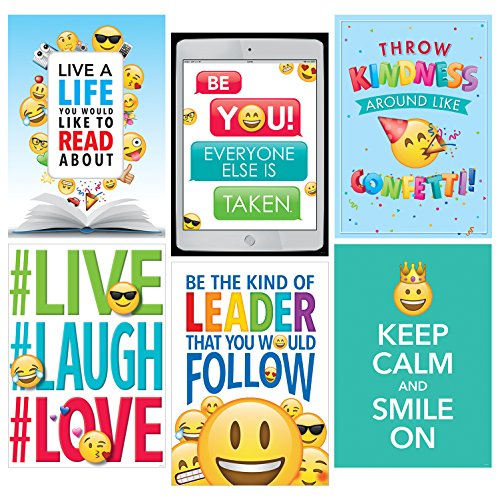 - Creative Teaching Press Wall Poster Emoji Fun Inspire U Poster 6-Pack, Ctp 8093 with