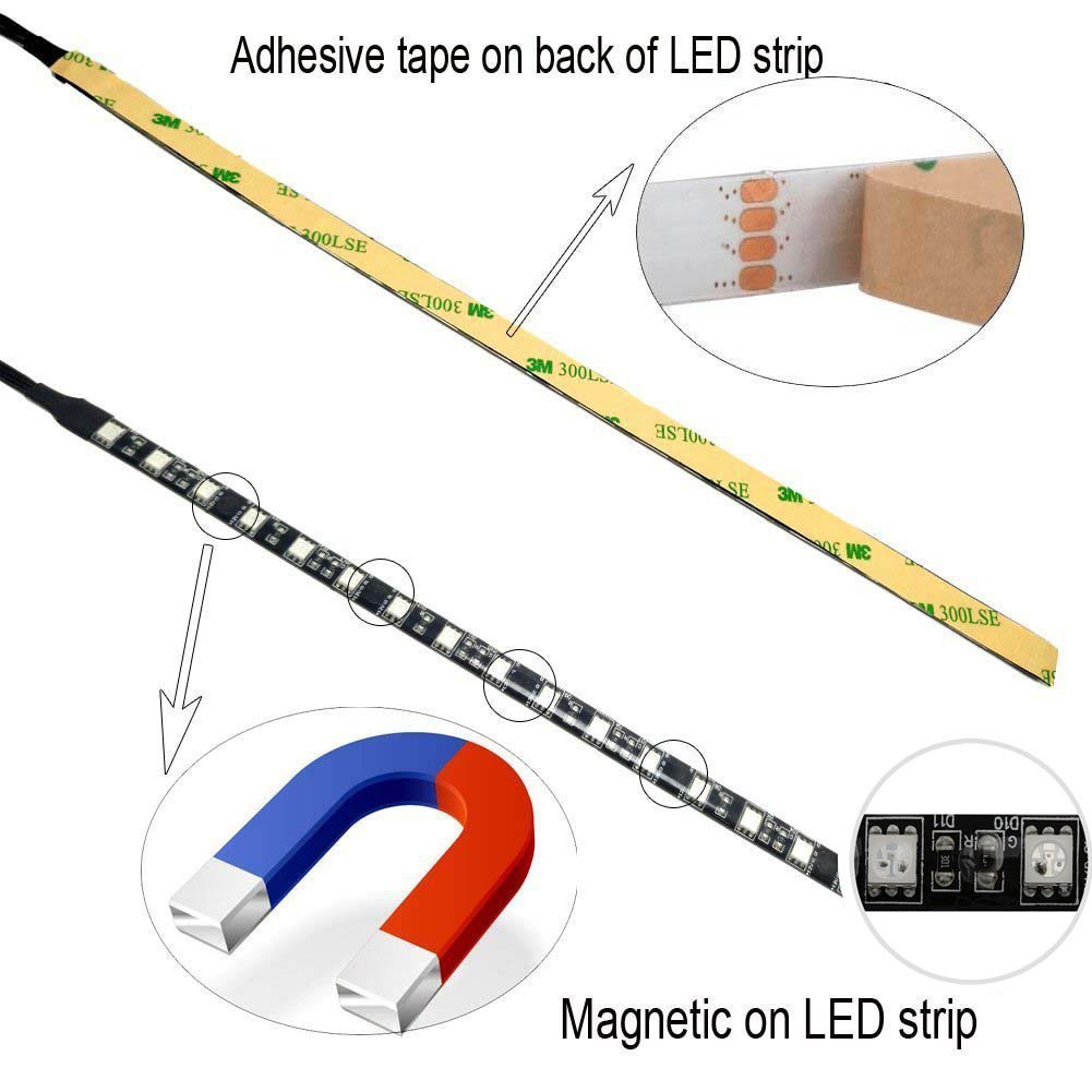 30cm 18 LEDs with 4 Pin RGB-Header +12V,G,R,B Extension