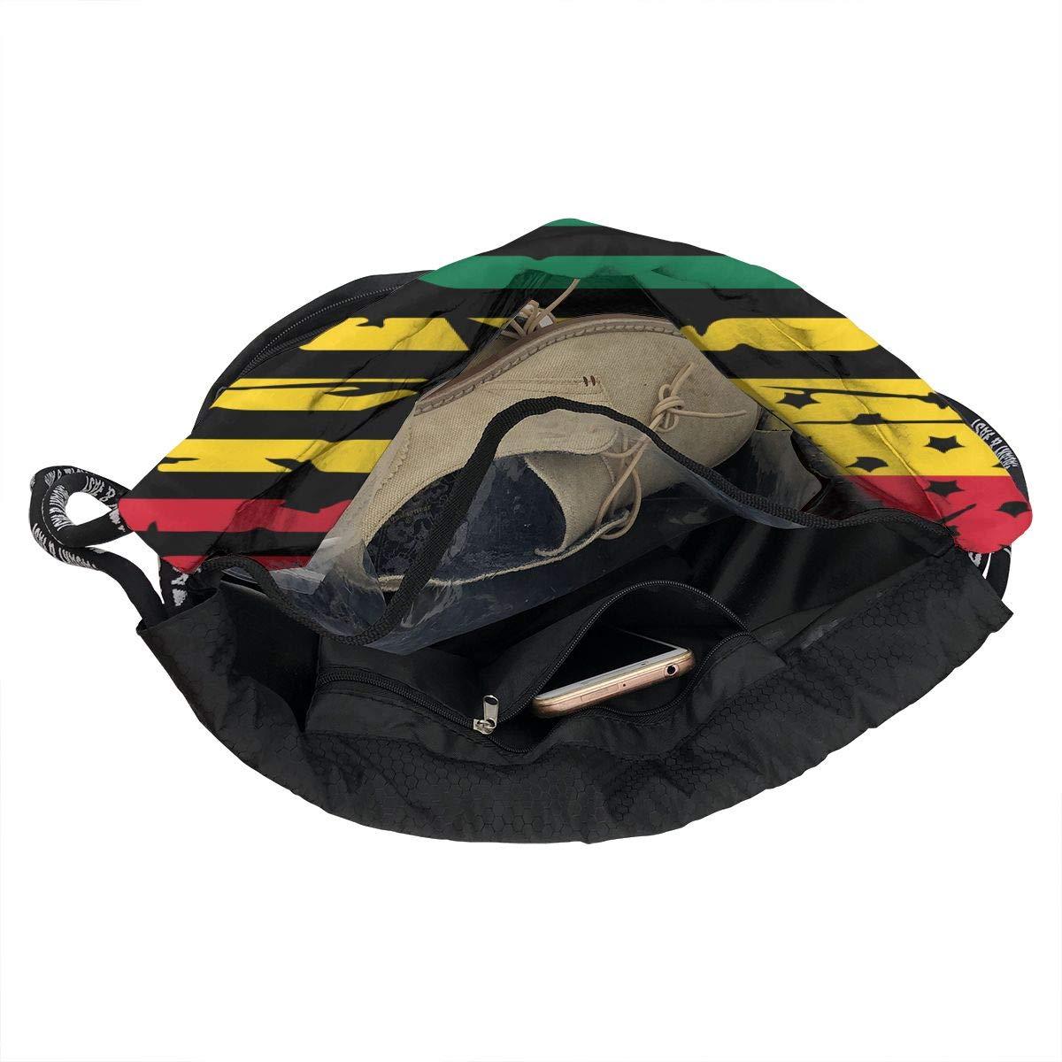 Ghana American Flag Drawstring Bag Multifunctional String Backpack Custom Cinch Backpack Sport Gym Sack
