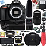 Nikon D5600 24.2 MP DX-Format Full HD 1080p Digital SLR Camera Body + Sigma 70-300mm Macro Telephoto Lens Tascam Video Creator Bundle