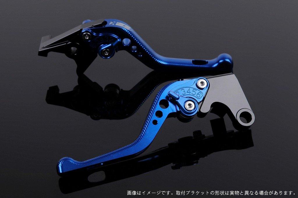 アジャストレバー ブレーキ&クラッチセット レバー色:ブルー アジャスト色:ブルー (Z800 13)/(Z750 07-11) B00OPQHYM2 スタンダードロング|アジャスター:ブルー|レバー本体:ブルー アジャスター:ブルー スタンダードロング