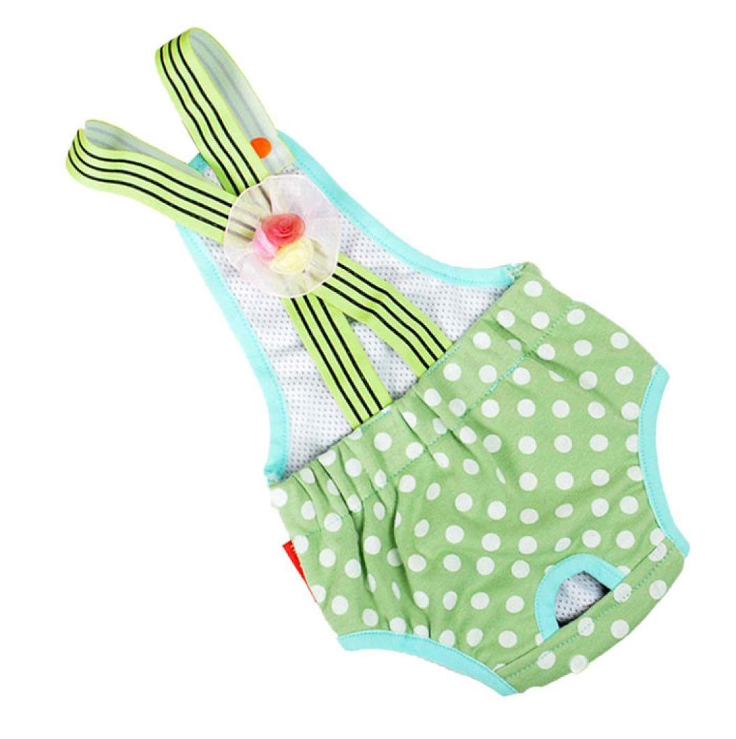 Cute Pet Dog Panty Brief Bitch In Season Clothes Sanitary Physiological Pants For Girl Female Small Pet Dog puppy Diaper