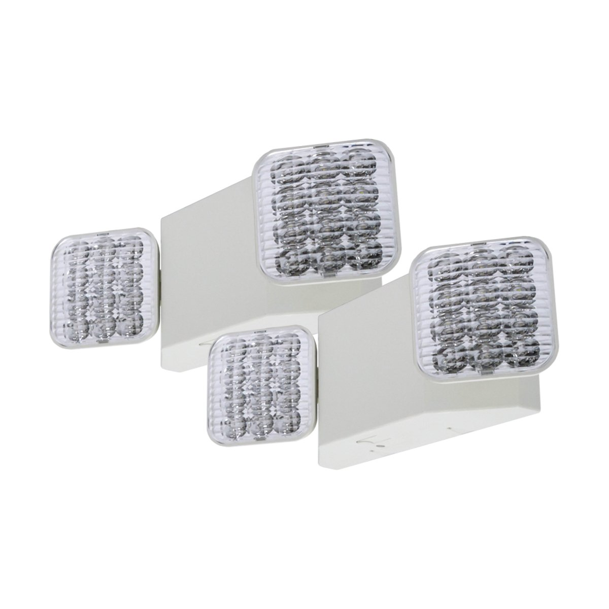 LFI Lights - 2 Pack - UL Certified - Hardwired LED Emergency Light Standard - ELW2x2