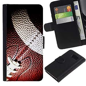 YiPhone /// Tirón de la caja Cartera de cuero con ranuras para tarjetas - Balón de fútbol - Sony Xperia Z3 Compact