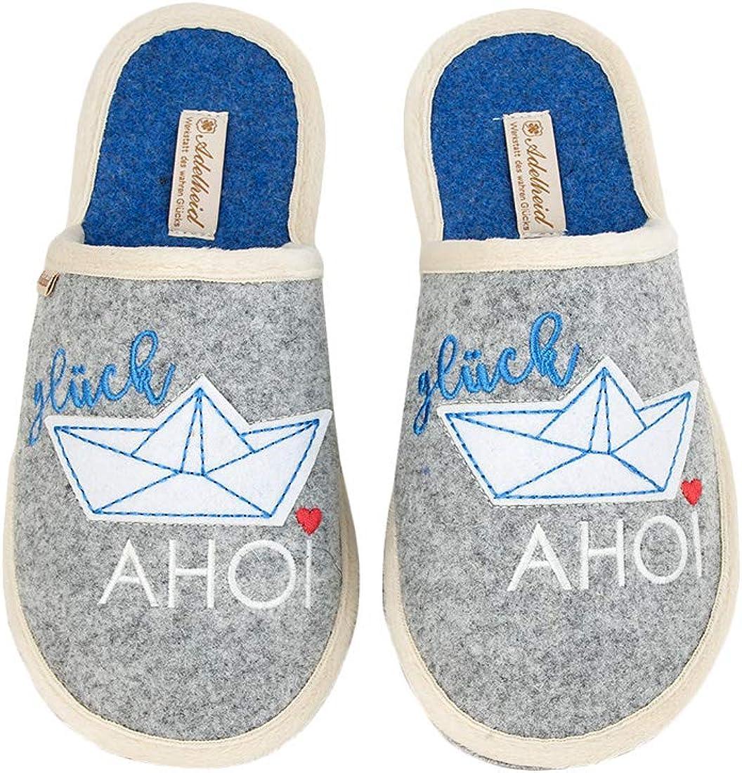 Adelheid Gl/ück AHOI Boot Filzpantoffel