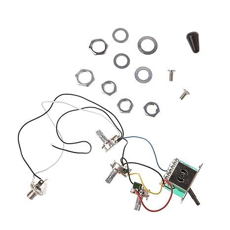 JOYKK Mazo de Cables del Circuito de Guitarra eléctrica 5 Maneras Interruptor 2V1T1J A500K B500K -