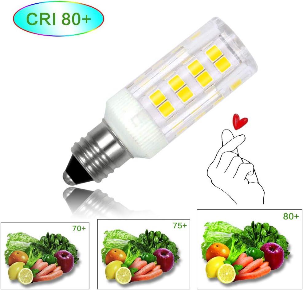 Honle E11 LED Light Bulbs 3W Equivalent 30W Halogen Bulb Warm White 3000K T5 Edison Screw Candle Mini Candelabra Base Non-dimmable AC 110V for Chandelier Indoor Decorative Lighting Pack of 4