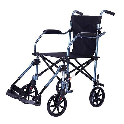 Sillas de ruedas, portátil para Adultos Plegable Viajes de ...