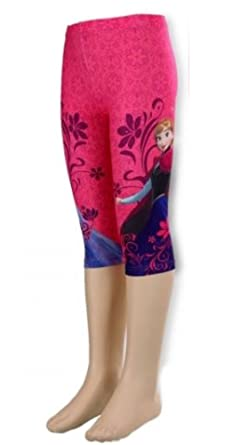 66bd682471e75 New Girls Official Licence Disney Frozen Dark Pink Stretchy Leggings, Size  3, 4,