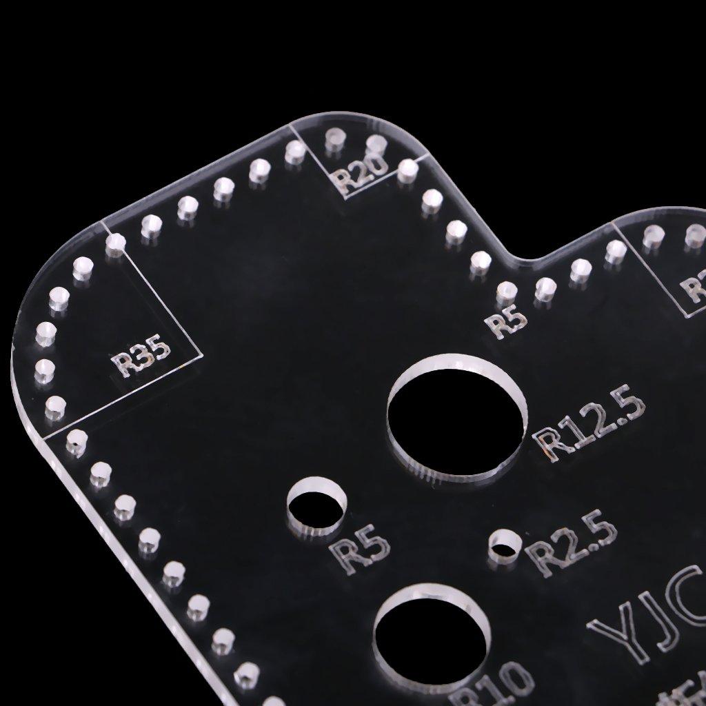 Transparente Plantillas de Acr/ílico Plantillas de Bricolaje para Hacer Monederos Claro 3 mm