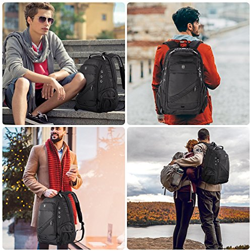 Sosoon Laptop Backpack, Business Anti-Theft Travel Backpack with USB Charging Port, Water Resistant Large Compartment College School Computer Bag for Men and Women for 15.6 inch Laptop and Notebook by Sosoon (Image #5)