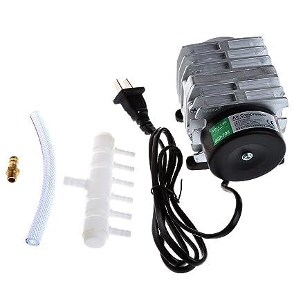 JAGETRADE 45L / min 25W Compresor de Aire electromagnético Acuario Oxígeno Estanque Aireador de la Bomba