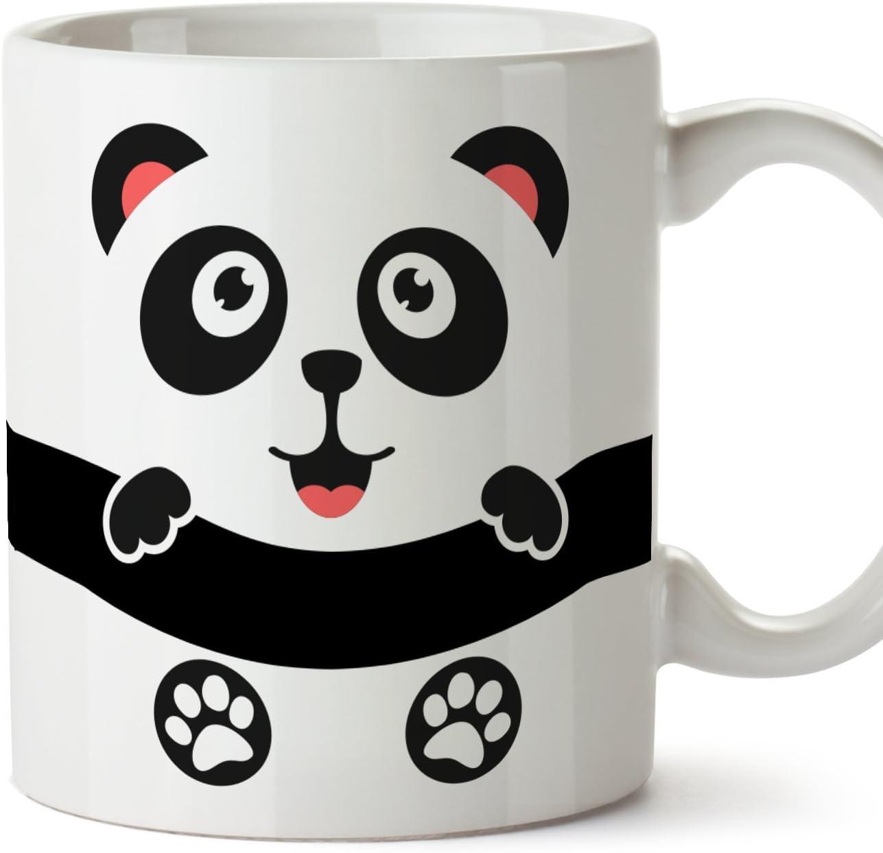 MUGFFINS Oso Panda Tazas Originales de Desayuno - Animales Graciosos Ideas para Regalos - Cerámica 350 ml: Amazon.es: Hogar