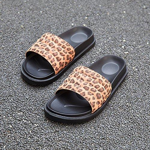 slittamento leopard sig fankou ra pantofole outdoor usura oro femmina estate sexy casa anti 39 pantofole qzTFz