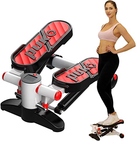 YUHAIJIE Aire Escalador aeróbico Fitness Paso Escalera Stepper Giro máquina de Ejercicio LED Monitor 38 Grados diseño ergonómico Rojo: Amazon.es: Deportes y aire libre