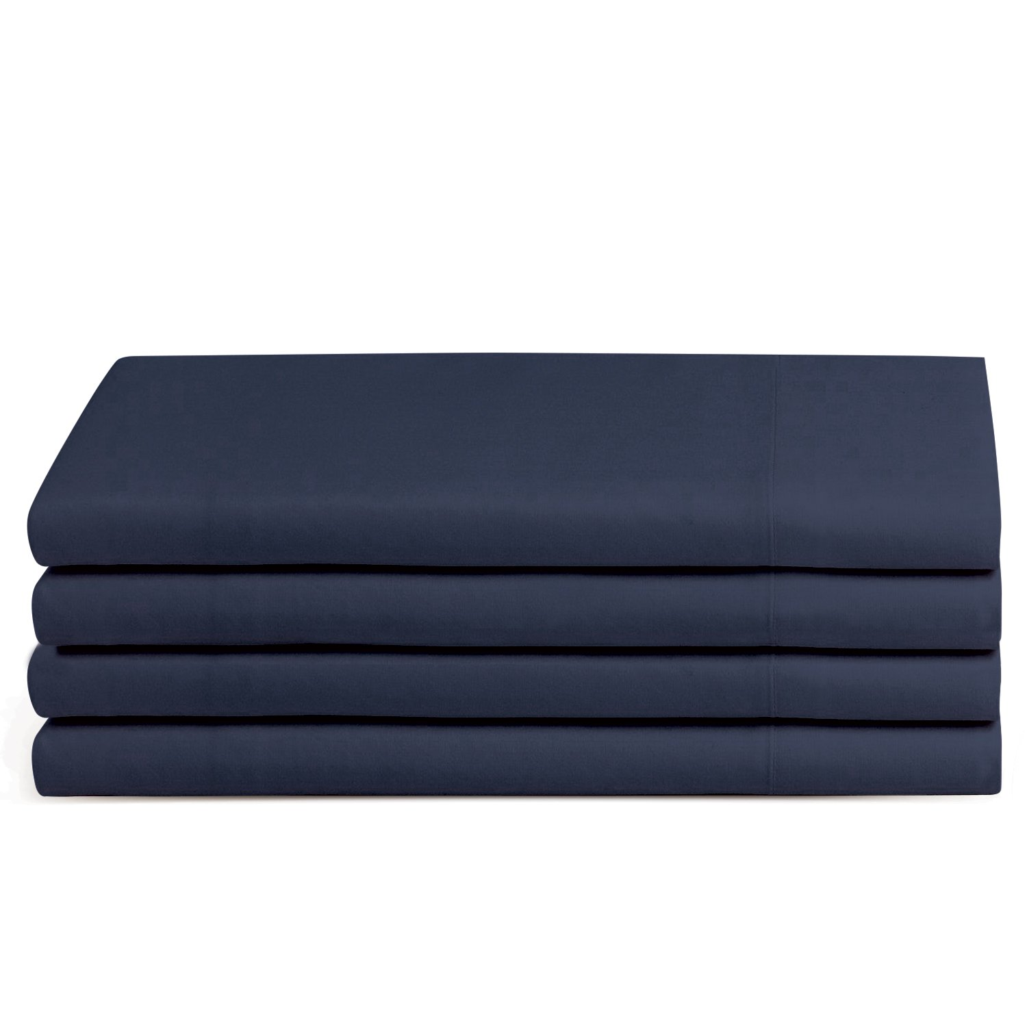 Beckham Hotel Collection Luxury Pillow Case - King - Navy