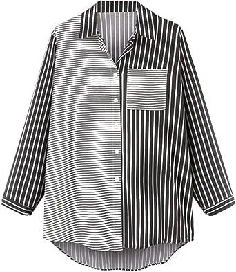 Fossen Camisas Mujer Tallas Grandes Originales a Rayas ...