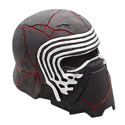 Star Wars Kylo Ren Helmet Mask with Voice Changer, Latex Electronic Full Head Mask with Sound Costume Toy: Clothing