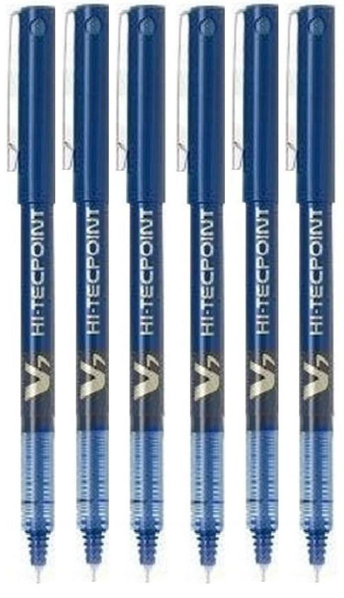 Pilot BX Hi-Tecpoint V7blu penna roller a punta fine 0,7mm, punta 0,5mm larghezza (Confezione da 6)