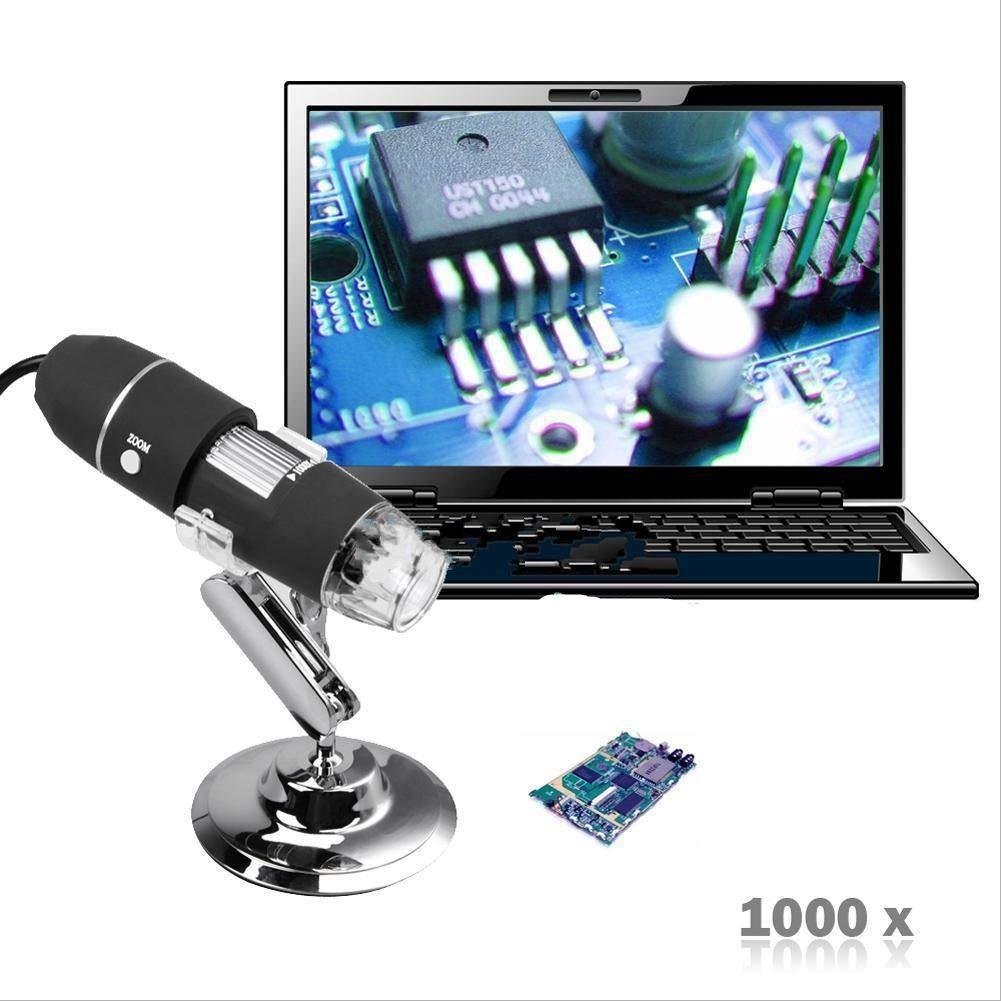 週間売れ筋 USB顕微鏡 - 2メガピクセル B07H8BCT43 1000X 8 LED USBデジタル顕微鏡 内視鏡 2メガピクセル LED カメラ拡大鏡ズーム B07H8BCT43, 学校教材ネットショップ:fc2019a7 --- sabinosports.com