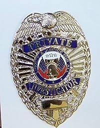 Gold Undercover Private Investigator Badge Full Size