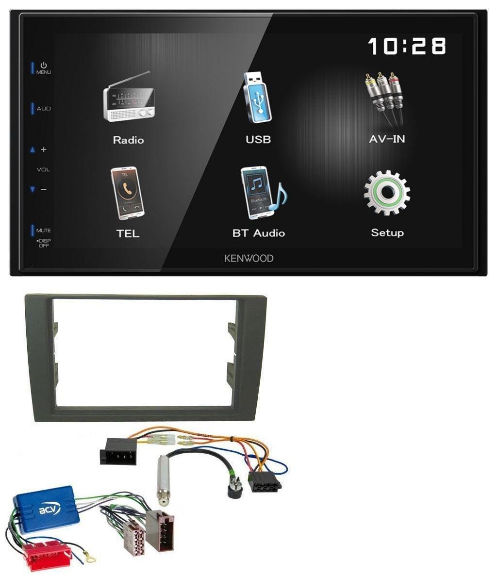 Kenwood DMX110BT Bluetooth MP3 USB Aux 2DIN Autoradio fü r Audi A4 B6 B7 01-08 Aktivsystem Mini-ISO caraudio24