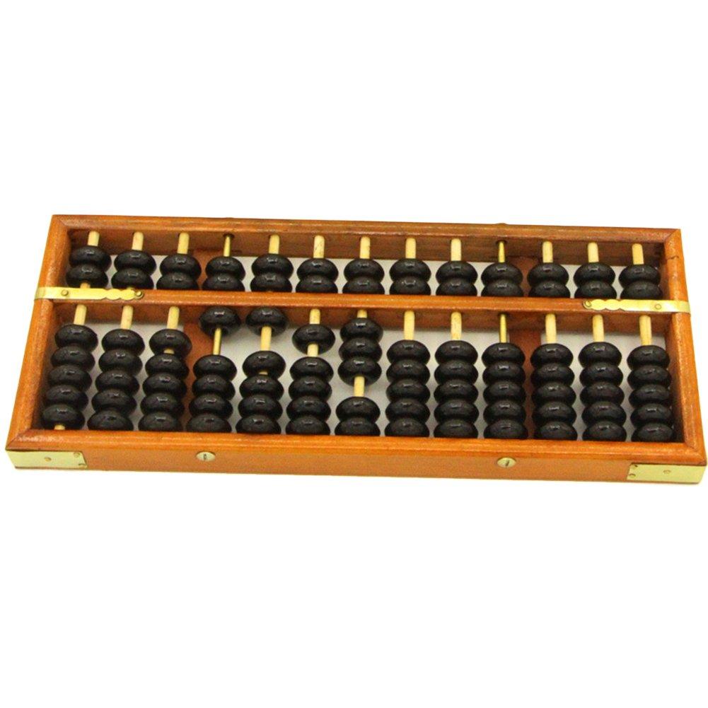 HugeStore Vintage Wooden Wood Abacus Desk Soroban for Kids Math Educational Learning Tools