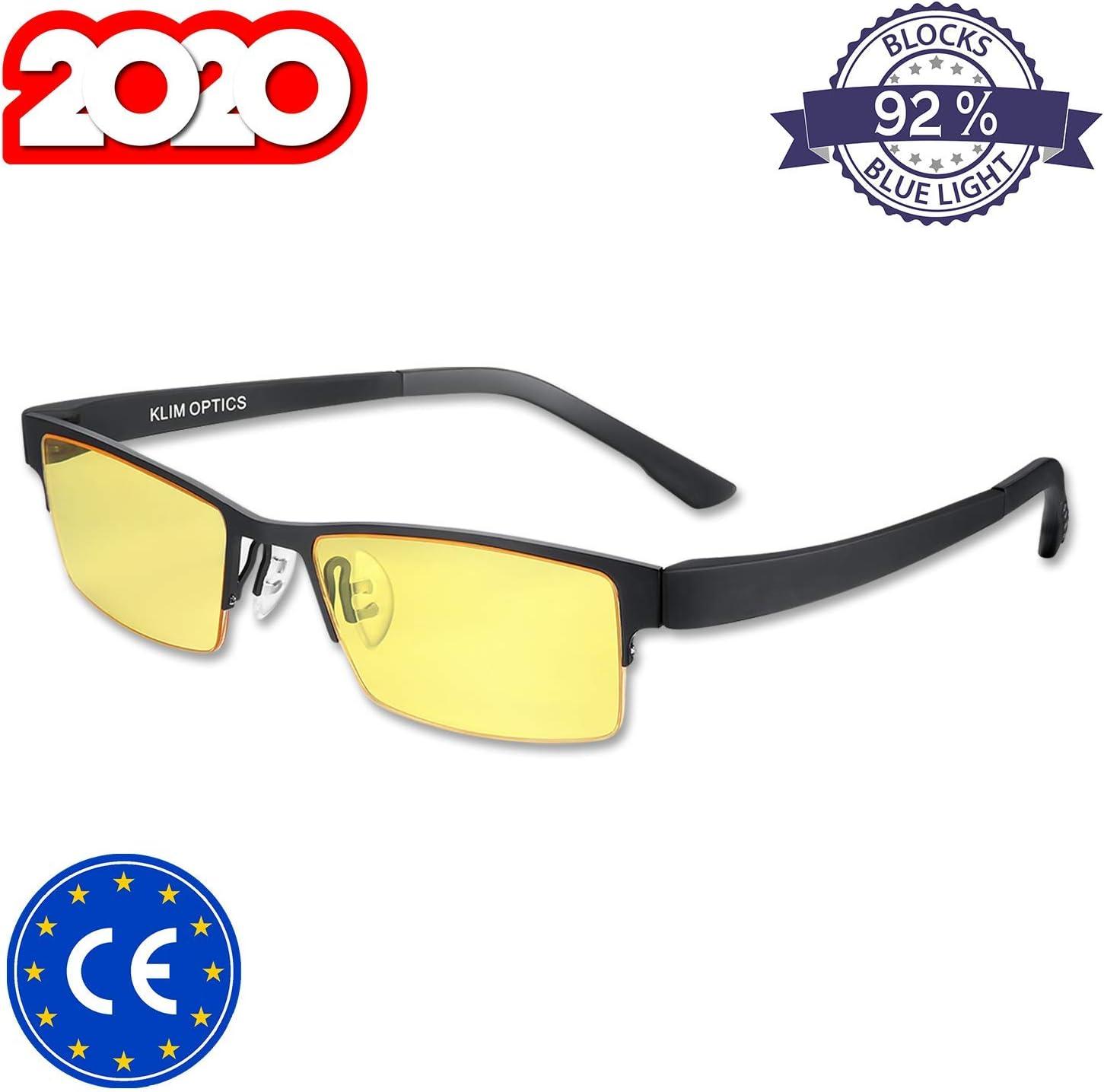 KLIM™ Optics - Gafas para Ordenador Anti luz Azul + Evita la Fatiga Ocular + Gafas Gaming para PC, Móvil TV, Tablet + Alta protección + Potente Filtro de luz Azul 92% + Anti UV + Nueva VERSIÓN 2019