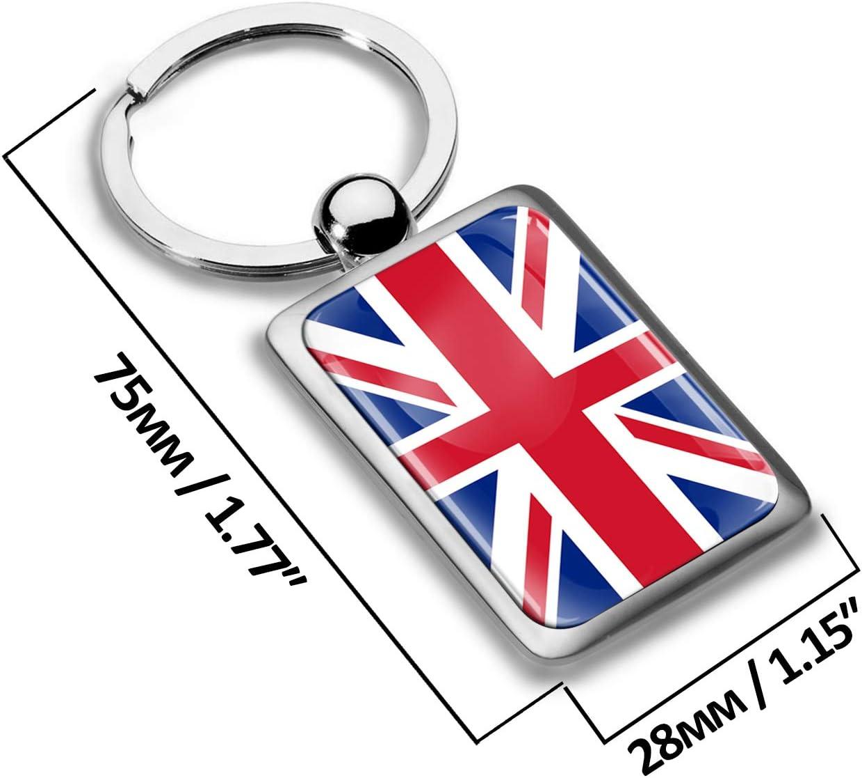 Biomar Labs Schlüsselanhänger Metall Keyring Mit Geschenkbox Autoschlüssel Geschenk Metall Schlüsselanhänger Schlüsselbund Edelstahl Englisch Flagge Uk England Großbritannien United Kingdom Kk 216 Koffer Rucksäcke Taschen