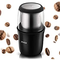 Electric Coffee Grinder Portable Coffee Grinde with Stainless Steel Blade Removable Coffee Powder Bowl Up to 12 Cups Fast Grinding for Coffee Beans, Seeds, Spices, Herbs, Grains Home Office Travel