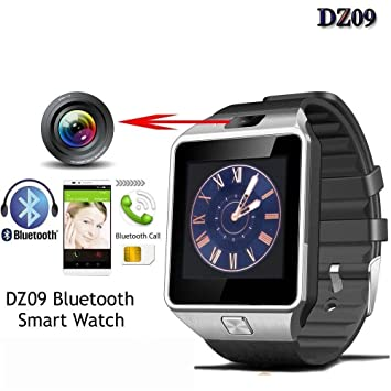 b175b54aa Microbirdss DZ 09 Bluetooth Smartwatch Wristwatch for Men for All  Android iOS Devices - dz09 Silver 116  Amazon.in  Computers   Accessories
