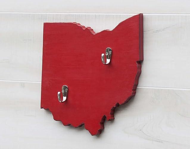 Ohio State Map Shape Key Hook Home Organizer Additional Us States O W Available 20