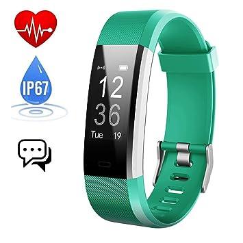 iPosible Pulsera Actividad Monitor de Frecuencia Cardiáco Pulsera Reloj Inteligente con Pulsómetro Impermeable Podómetro Monitor de Ritmo Cardíaco Monitor ...