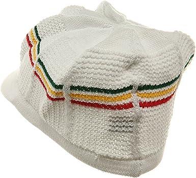 New Rasta Cool Running Hat-White RGY