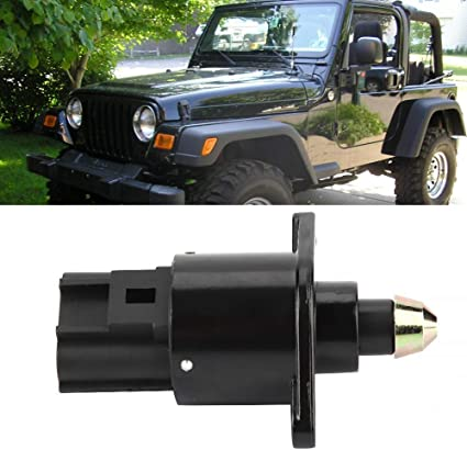 Terisass 4874373AB Idle Control Valve Car Auto Idle Air Control Valve Compatible with Jeep Dodge Cherokee TJ Wrangler 1998 1999 2000 2001 2002 2003 2004