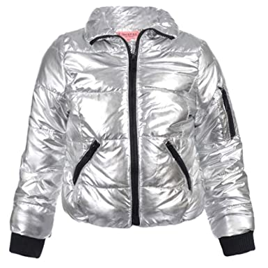 1c5e5b006976 Amazon.com  Urban Republic Big Girls Silver Detachable Faux Fur ...