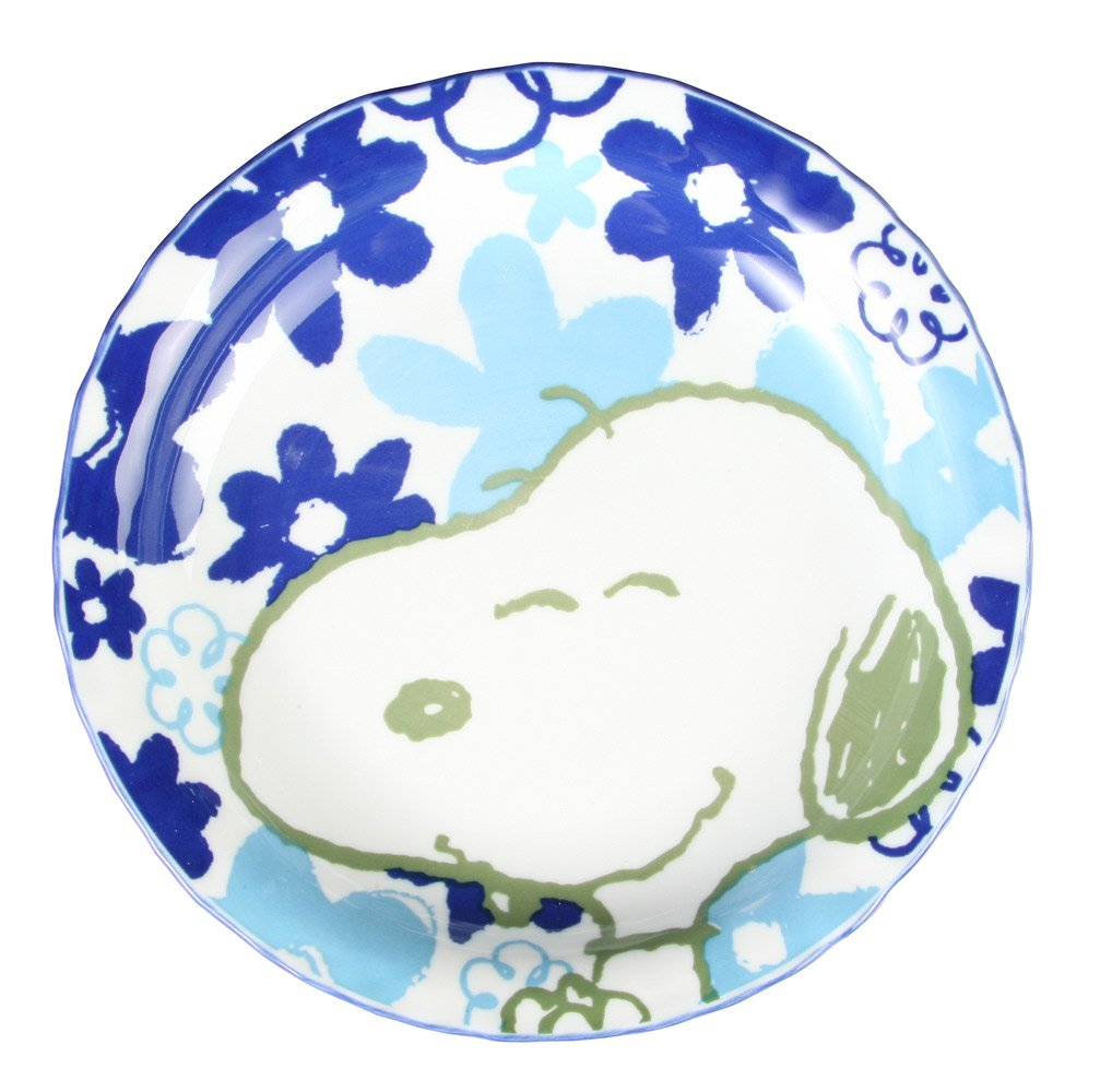 Tropical Snoopy curry dish STR-010 by Osawa pottery