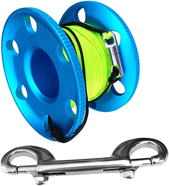 3X Empty Scuba Diving Compact Finger Reel Spool for Holding 20m Guide Line